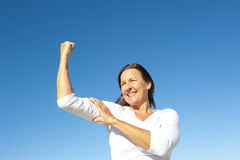 Confident happy senior woman Royalty Free Stock Image