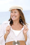 Confident happy senior woman  outdoor Stock Photos