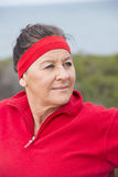 Confident happy sporty mature woman Royalty Free Stock Photo