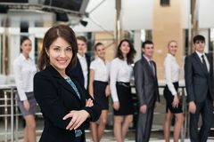 Confident in herself. Cheerful mature woman Stock Photography