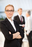 Confident in herself. Royalty Free Stock Images