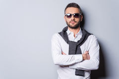 Confident in his perfect look. Stock Images