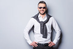 Confident in his perfect style. Royalty Free Stock Images
