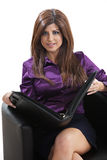 Confident hispanic businesswoman Stock Images