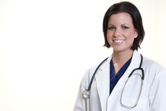Confident hispanic medical professional woman Stock Images