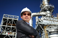 Confident industrial engineer. Looking you camera Royalty Free Stock Photos