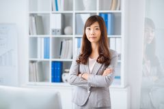 Confident Japanese business lady Royalty Free Stock Photography