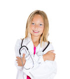 Confident kid doc Royalty Free Stock Images