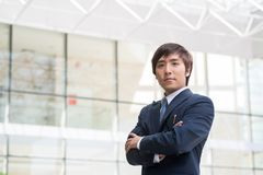 Confident Korean manager Royalty Free Stock Photography