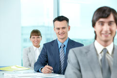 Confident leader Royalty Free Stock Image