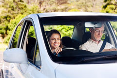 Confident learner driver Stock Photos