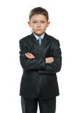 Confident little boy in suit Royalty Free Stock Photo