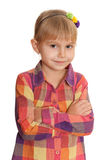 Confident little girl Royalty Free Stock Photo