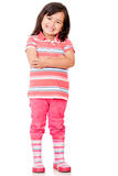 Confident little girl Stock Images