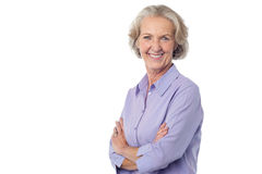 Confident looking charming senior woman Royalty Free Stock Photos