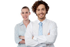 Confident looking young business couple Stock Image