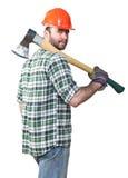 Confident lumberjack Stock Photo