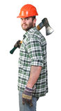 Confident lumberjack Stock Image