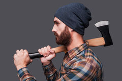 Confident lumberjack. Stock Images