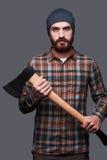 Confident lumberjack. royalty free stock image