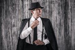 Confident mafia boss. Stock Photography