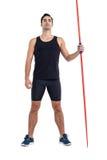 Confident male athlete holding javelin Stock Image