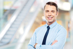 Confident male business executive Stock Image