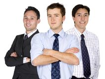 Confident male business team Royalty Free Stock Photography