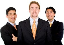 Confident male business team Royalty Free Stock Photo