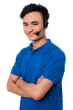 Confident male customer support executive Royalty Free Stock Photo