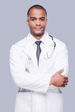 Confident male doctor. Royalty Free Stock Photo