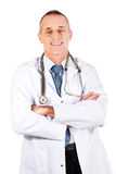 Confident male doctor with folded arms.  Stock Photography