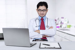 Confident male doctor Stock Photography