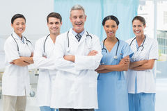 Confident male and female doctors Royalty Free Stock Images