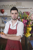 Confident Male Florist Holding Scissors Stock Photos