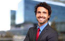 Confident male manager. Confident smiling male manager outdoor Stock Photography