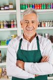 Confident Male Owner Standing In Grocery Store Royalty Free Stock Images