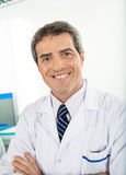 Confident Male Scientist. Portrait of confident male scientist in laboratory Stock Photos