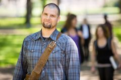 Confident Male Student At Campus Royalty Free Stock Photo
