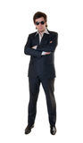 The confident man. In a black suit Stock Photography