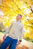 Confident Man in Autumn Stock Images