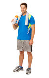 Confident Man Drinking Water After Workout Royalty Free Stock Photo