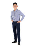 Confident man. Full-length portrait of confident cheerful businessman looking at camera Royalty Free Stock Photos