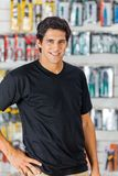 Confident Man In Hardware Store stock image