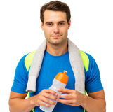 Confident Man Holding Water Bottle Stock Photos