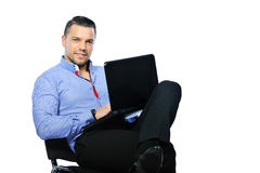 Confident man with notebook computer Royalty Free Stock Images