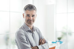 Confident man posing Stock Image