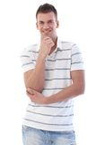 Confident man smiling Stock Images