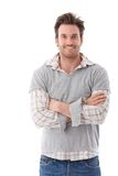 Confident man smiling arms crossed Stock Photos