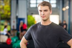 Confident Man Standing At Healthclub Stock Image